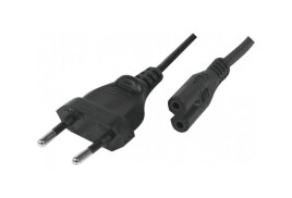 Hypertec ProConnect Lite (1.8m) IEC C7 Male to IEC 320 C7 Male Power Cable (Black)