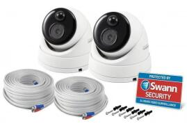 Swann (5MP) Thermal Sensing PIR Security Dome Camera (White/Black) Pack of 2