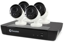 Swann NVR8-8580 8 Channel 4K Ultra HD Network Video Recorder with 2TB Hard Drive and 4 x NHD-885MSB Security Cameras