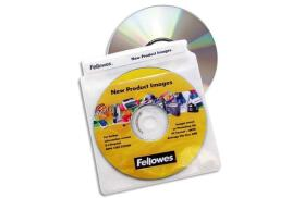 Fellowes CD Plastic Envelopes (100 Pack)