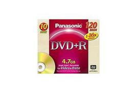 Panasonic 16x DVD+R Discs Jewel Case (10 Pack)