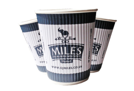 Miles 12oz Ripple Disposable Cups (500)