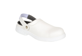 Safety Clog 34/1 (Colour: White, Size: 34)