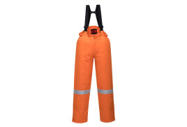 Araflame Insulated Salopettes (Colour: Orange, Size: Medium)