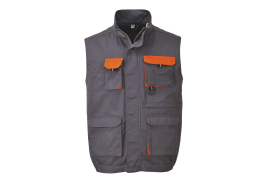 Contrast Gilet (Colour: Grey, Size: Small)