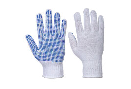 Classic Polka Dot Glove (Colour: White/Blue, Size: Large)