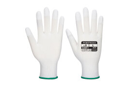 PU Fingertip Glove (Colour: White, Size: Large)