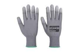 PU Fingertip Glove (Colour: Grey, Size: Large)