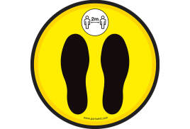 Covid Floor Step Marker (Pk50) (Colour: Yellow)