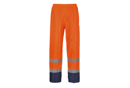 Hi-Vis Classic Contrast Trousers (Colour: Orange/Navy, Size: Small)
