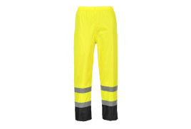 Hi-Vis Classic Contrast Trousers (Colour: Yellow/Black, Size: Medium)