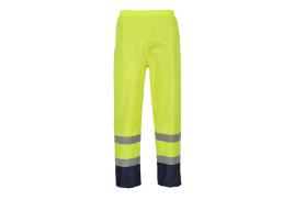 Hi-Vis Classic Contrast Trousers (Colour: Yellow/Navy, Size: Medium)