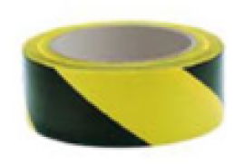 Black/Yellow Hazard Tape (48mm x 33m) - 4 for 3 Offer