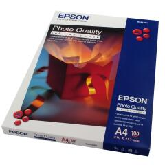 Epson (A4) 102g/m2 Photo Quality Matte Inkjet Max. 1440dpi Paper (White) 1 Pack of 100 Sheets Image