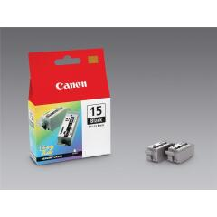 Canon 8190A002 (BCI-15 BK) Ink cartridge black, 80 pages @ 5% coverage, 5ml, Pack qty 2 Image