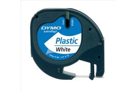 Dymo (12mm) Plastic Tape (Black on White) for Dymo LetraTAG Series