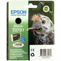 Epson Owl T0791 (Yield: 470 Pages) Black Ink Cartridge Image