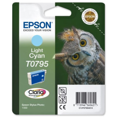 Epson Owl T0795 (Yield: 660 Pages) Light Cyan Ink Cartridge Image