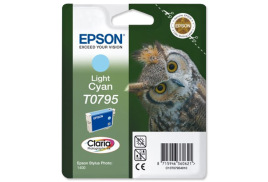 Epson Owl T0795 (Yield: 660 Pages) Light Cyan Ink Cartridge