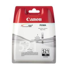 Canon CLI-521BK (Yield: 1,250 Pages) Black Ink Cartridge Image