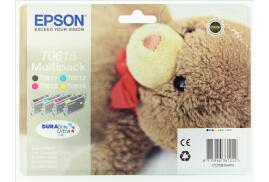 Epson Teddy Bear T0615 (Yield: 250 Pages) Black/Cyan/Magenta/Yellow Ink Cartridge Pack of 4