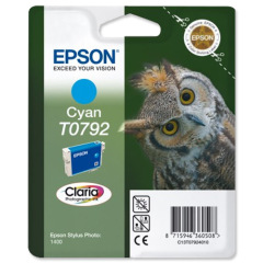 Epson Owl T0792 (Yield: 1,425 Pages) Cyan Ink Cartridge Image