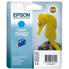 Epson T0482 Cyan Ink Cartridge for STYLUS Photo R200/R300/R320/R340/RX500/RX600/RX620 Printers Image