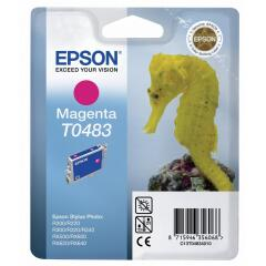 Epson T0483 Magenta Ink Cartridge for STYLUS Photo R200/R300/R320/R340/RX500/RX600/RX620 Printers Image