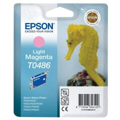 Epson Seahorse T0486 (Yield: 450 Pages) Light Magenta Ink Cartridge Image