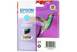 Epson Hummingbird T0802 (Yield: 900 Pages) Cyan Ink Cartridge