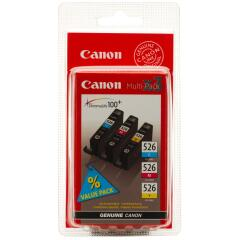 Canon CLI-526 (207 Cyan/204 Magenta/202 Yellow Photos) Cyan/Magenta/Yellow Ink Cartridge Pack of 3 Image