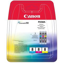 Canon CLI-8CMY (Yield: 420 Pages) Cyan/Magenta/Yellow Ink Cartridge Pack of 3 Image
