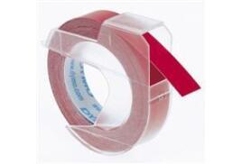 Dymo 3D (9mm) Embossing Tape (White on Red) Pack of 3 Rolls for Dymo Junior and Omega Label Makers