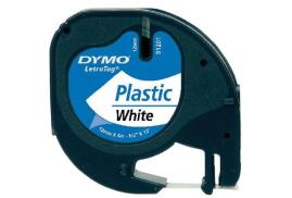 Dymo 12mm LetraTag Plastic Tape (White)