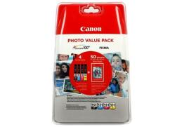 Canon Value Pack PP-201 4X6 (Photo Paper) CLI-551 C/M/Y/BK (Pack of 4 Ink Cartridge)