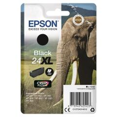 Epson Elephant 24XL (Yield 500 Pages) High Capacity Claria Photo HD Ink Cartridge (Black) Image
