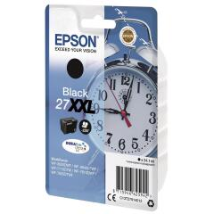 Epson Alarm Clock 27XXL DURABrite Ultra Ink Cartridge (Black) Blister for WorkForce WF-3620DWF/WF-7610DWF/WF-3640DTWF/WF-7620DTWF/WF-7110DTW Printers Image