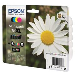 Epson Daisy 18XL Multi Pack 4 Colour Claria Home Ink Cartridges (Black/Cyan/Magenta/Yellow) Image