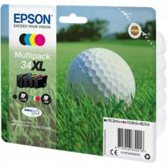 Epson Golf Ball 34XL T3476 (Yield 950 pages) DURABrite Ultra Multipack (Black 16.3ml and Cyan, Magenta, Yellow 10.8ml) Ink Cartridges Image