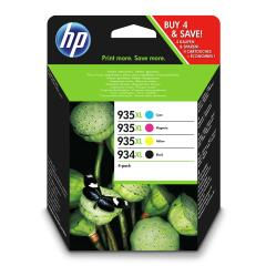 HP 934XL (Yield 1,000 Pages) Ink Cartridge (Black) + 935XL (Yield 825 Pages) Multipack Ink Cartridges (Cyan/Magenta/Yellow) Image