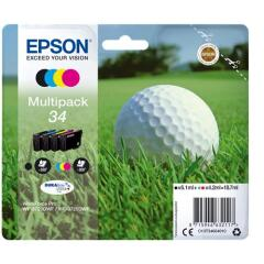 Epson Golf Ball 34 T3466 (Yield 300 pages) DURABrite Ultra Multipack (Black 6.1ml and Cyan/Magenta/Yellow 4.2ml) Ink Cartridges Image
